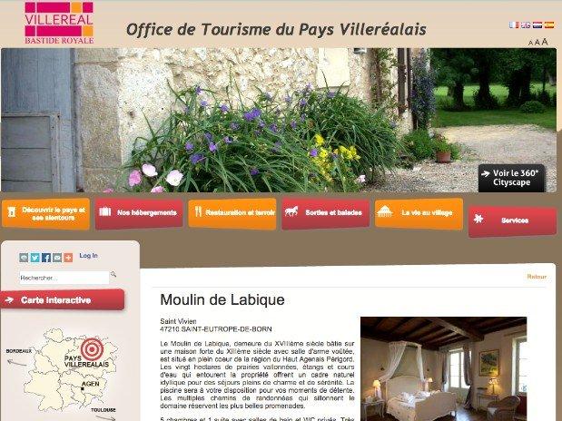 Chambre d'hôtes de Charme - moulin de la bique - villereal - lot et garonne - dordogne - nature - tourisme