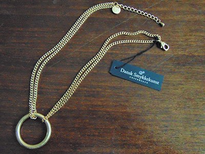 Collier chaine plaqué or