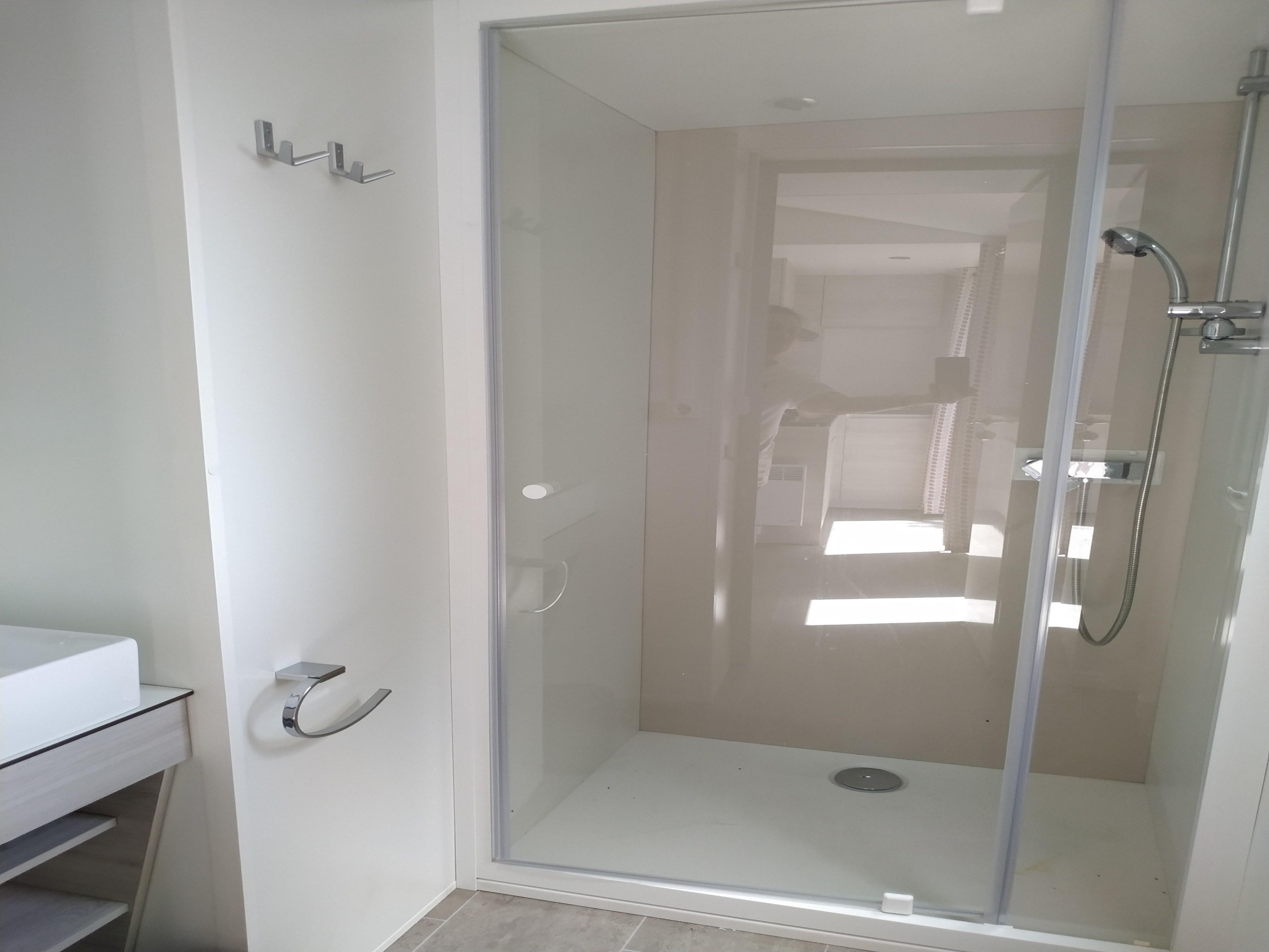 Salle d'eau Mobil home climatisation