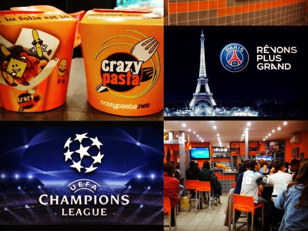 soiree foot crazy pasta paris