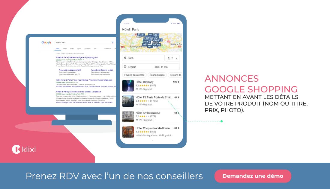 publicité en ligne Google Shopping