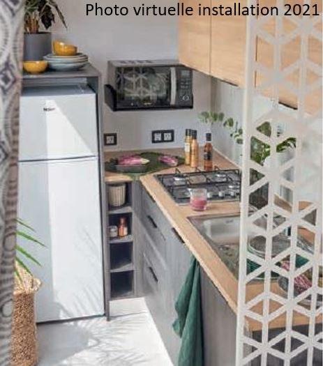 loft premium + cuisine 01  - camping piscine familial proche ardeche gorges