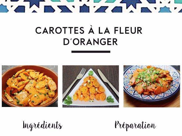 carottes à la fleur d'oranger