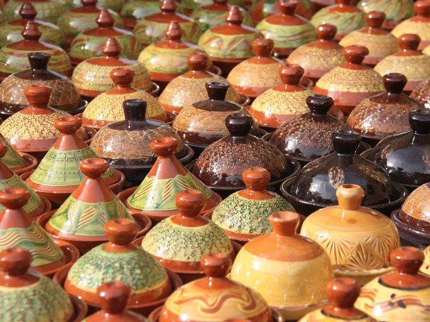 tajines - souks of marrakech - morocco - riad chamali