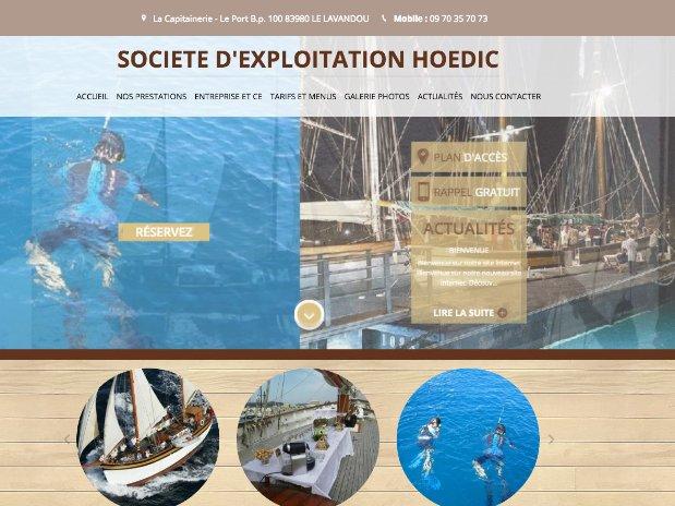 hoedic cruises - sailing - traditional boat - le lavandou