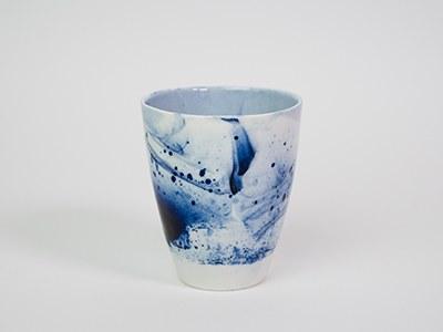 Tasse Bleue BRILLANTE - Collection Ligne Bleue