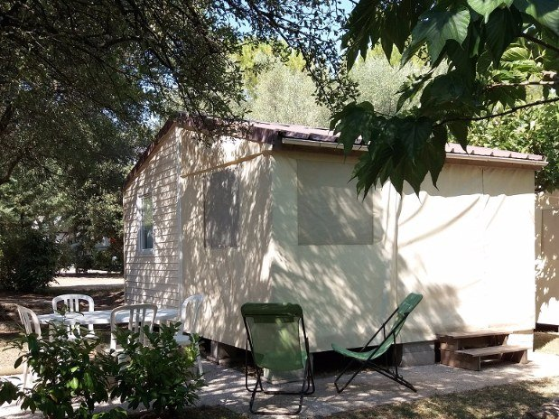 Camping l'olivier - tithome - mobil home sans sanitaires