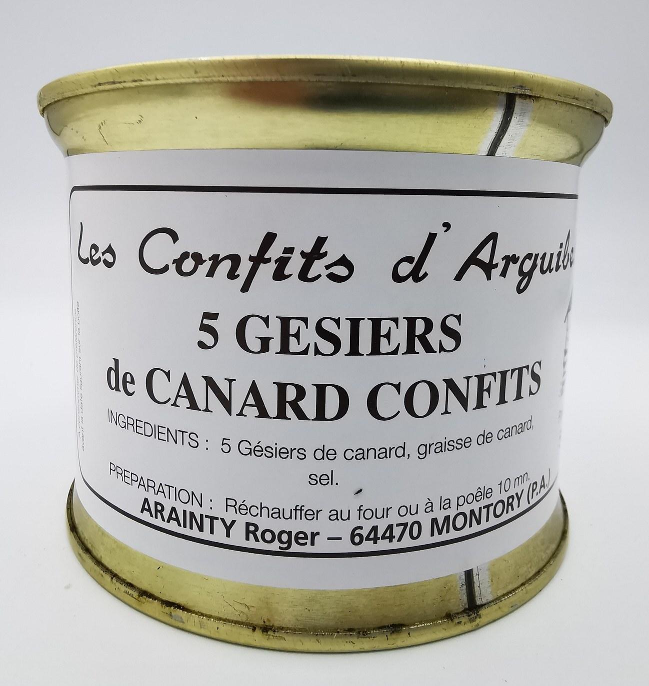5 Gésiers de Canard Confits - Les Confits D'Arguibelle - charcuterie - vallée d'aspe - local