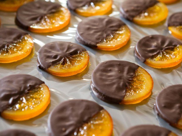 Tranches d'Oranges Confites au Chocolat