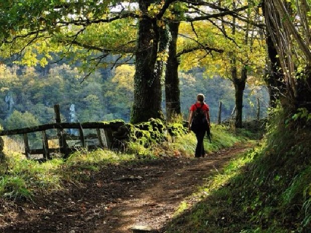 camping Le Clapas, Spaziergang im Tal