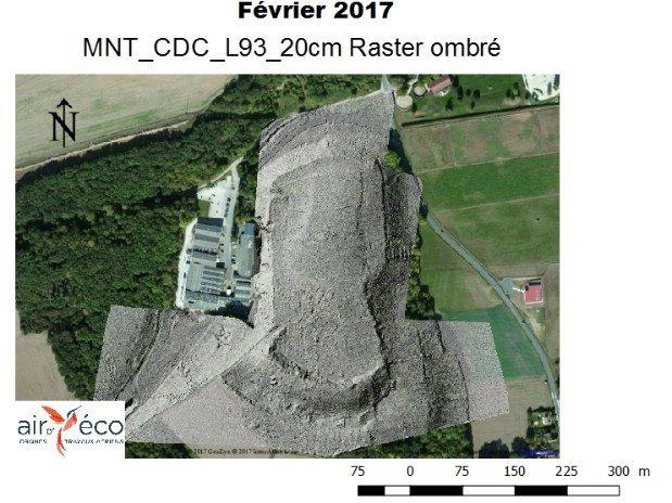Modèle Numérique de Terrain ombré LiDAR Drone 28