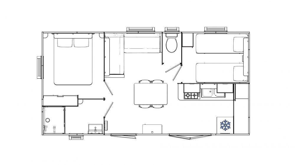 plan mobil-home camping rocamadour Lot piscine chauffée padirac