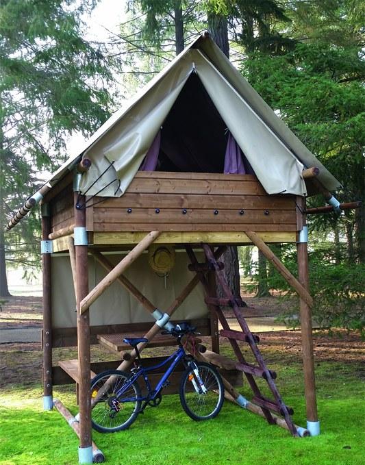 Bivouac tente pilotis drome camping vercors drome piscine chauffée lac