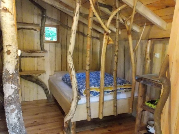 Chambre parents cabane rondins passion
