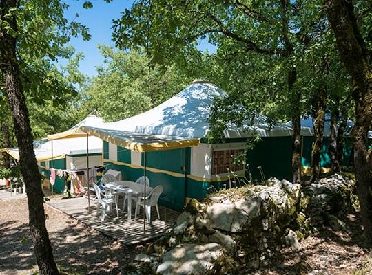 BUNGALOW camping familial nature lot piscine occitanie