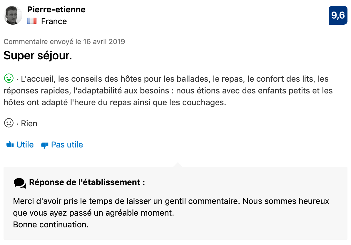 Commentaire Booking 1