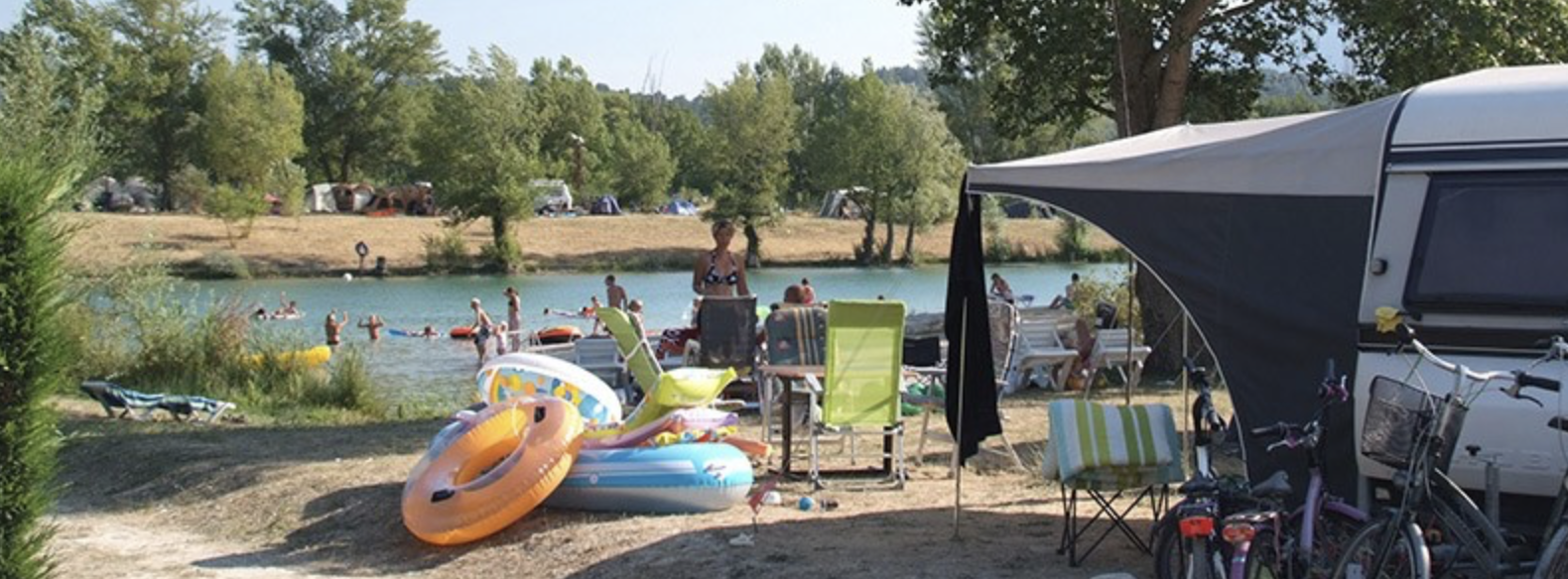 camping bords de lac drome