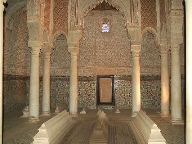 les tombeaux saadiens - marrakech - maroc - visite de la ville