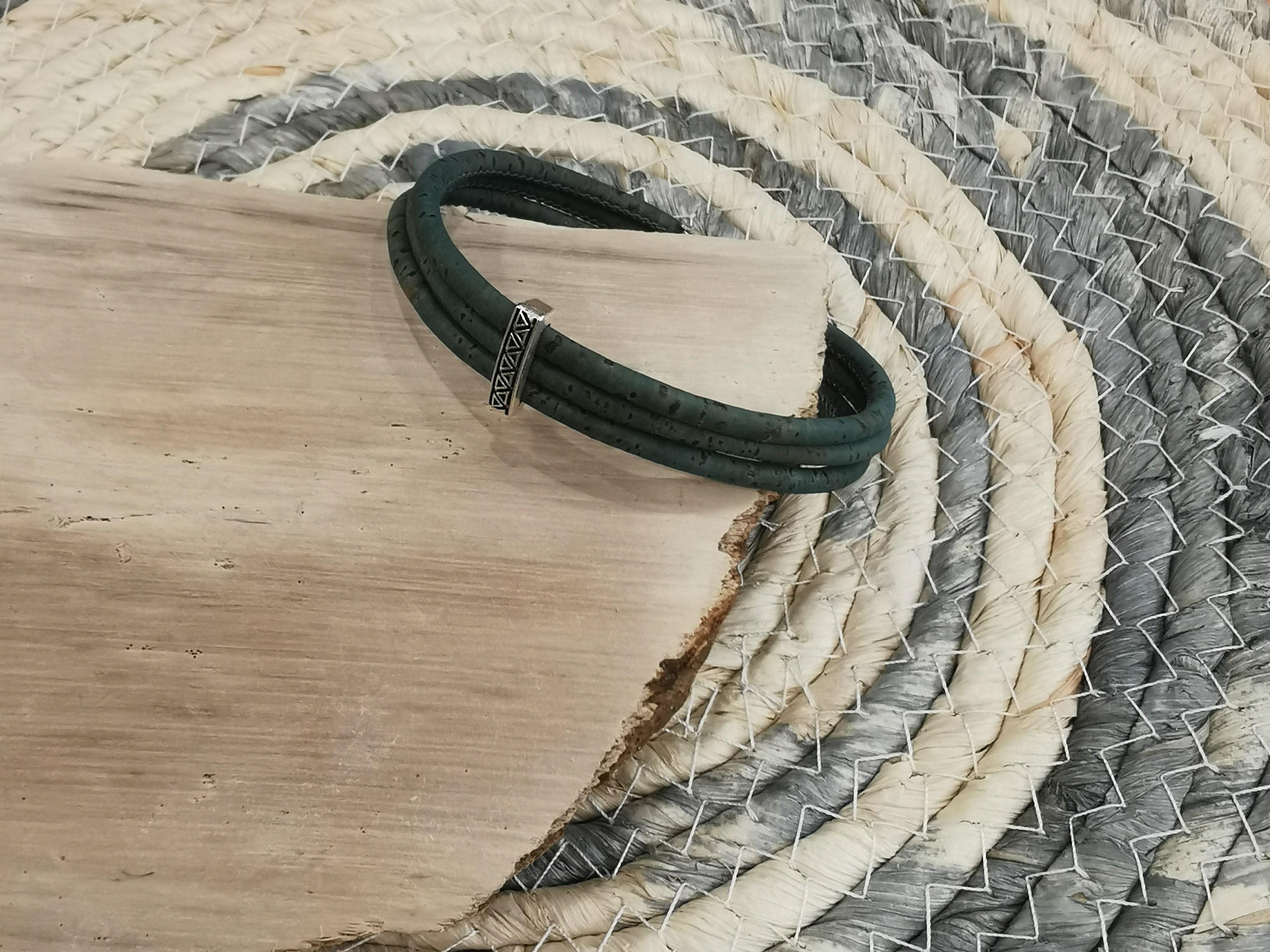 bracelet homme en liège couleurs d'hélène
