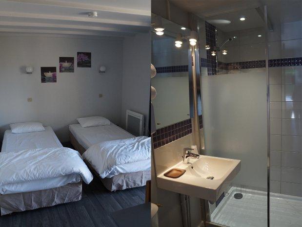 Chambre et salle de bain renouvlé Calvados Normandie