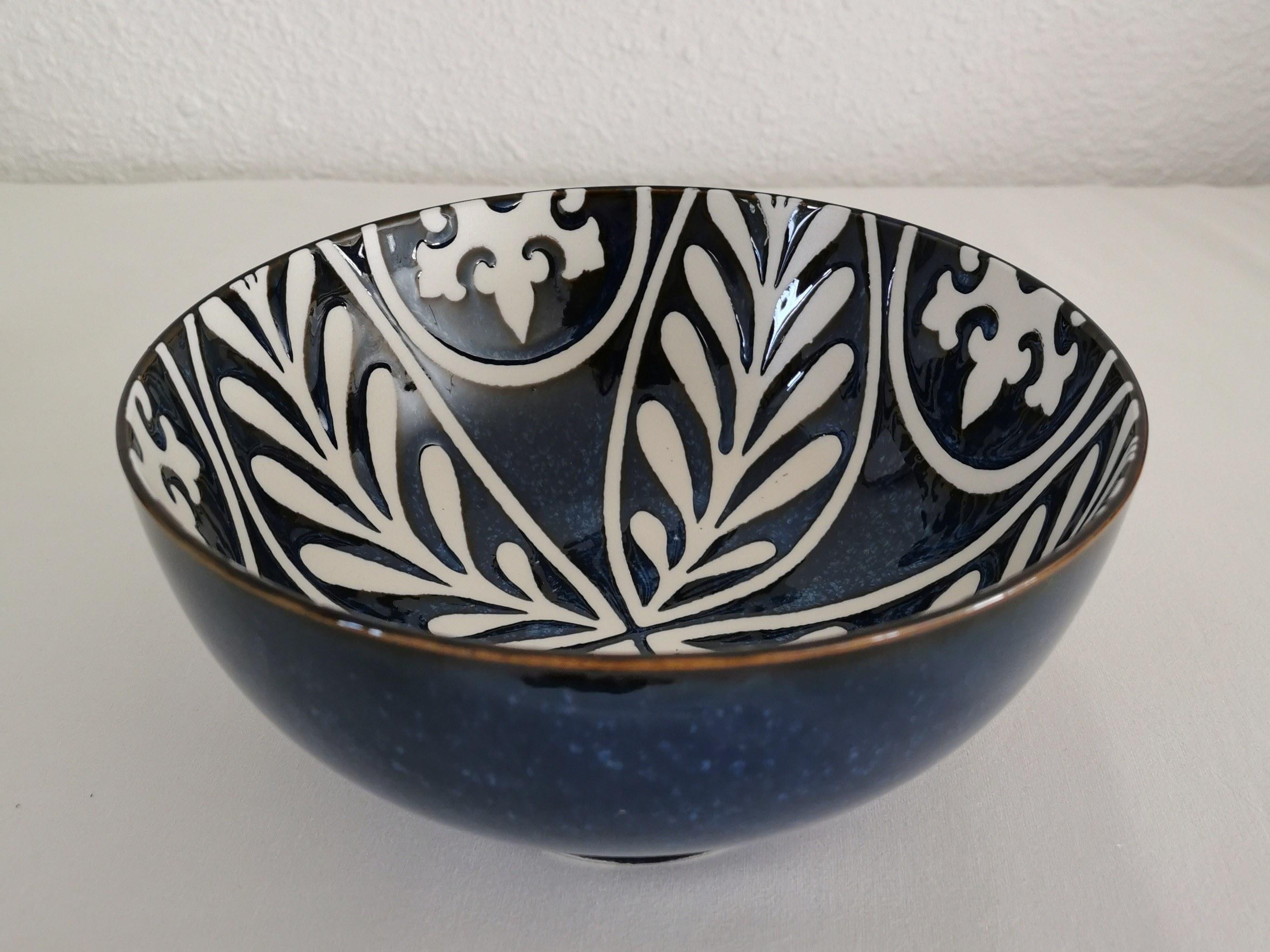 saladier céramique bleu couleurs d'hélène