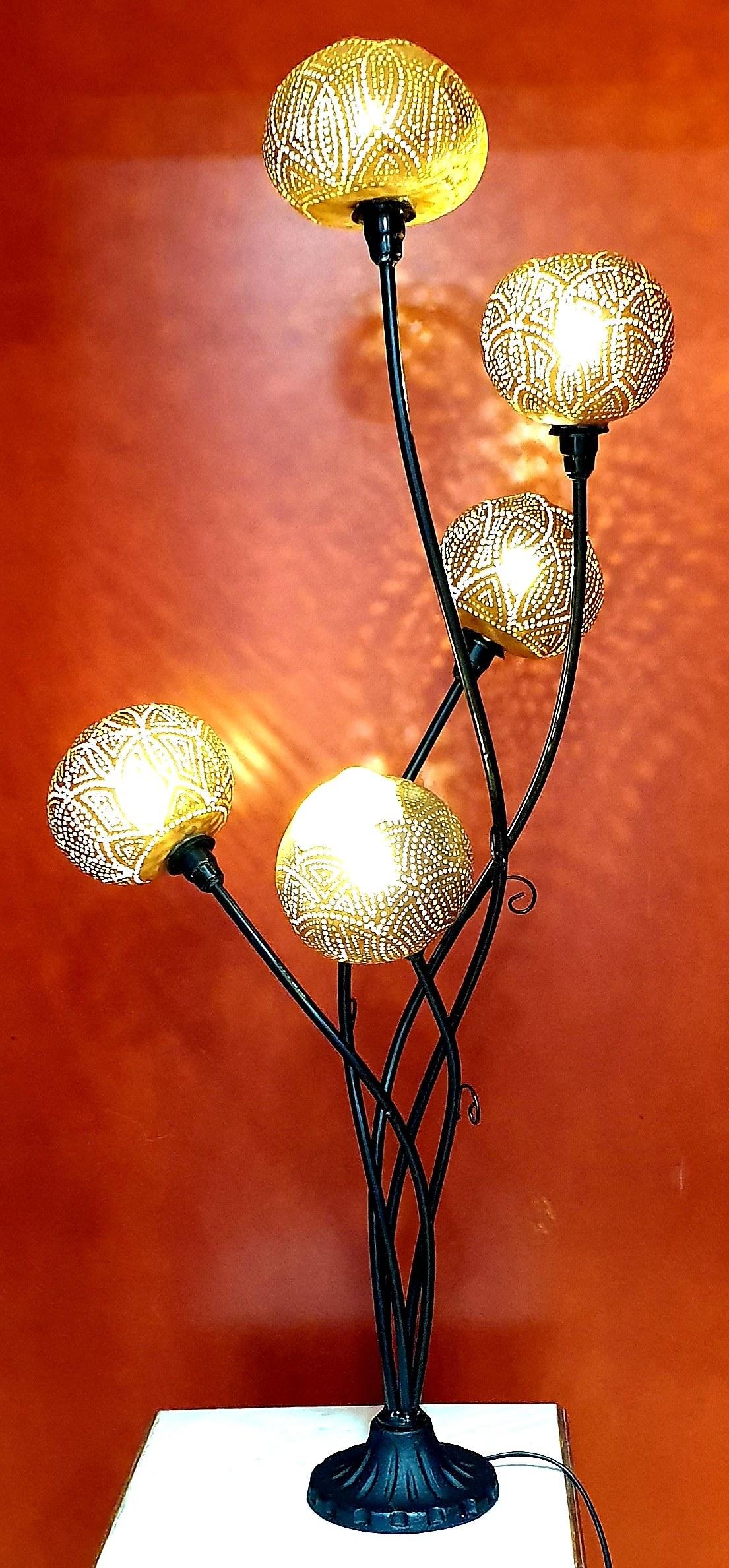 Lampes calebasses J&W Déco