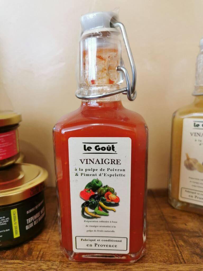 Vinaigre le goût à la pulpe de poivron et piment d'espelette Malaucène