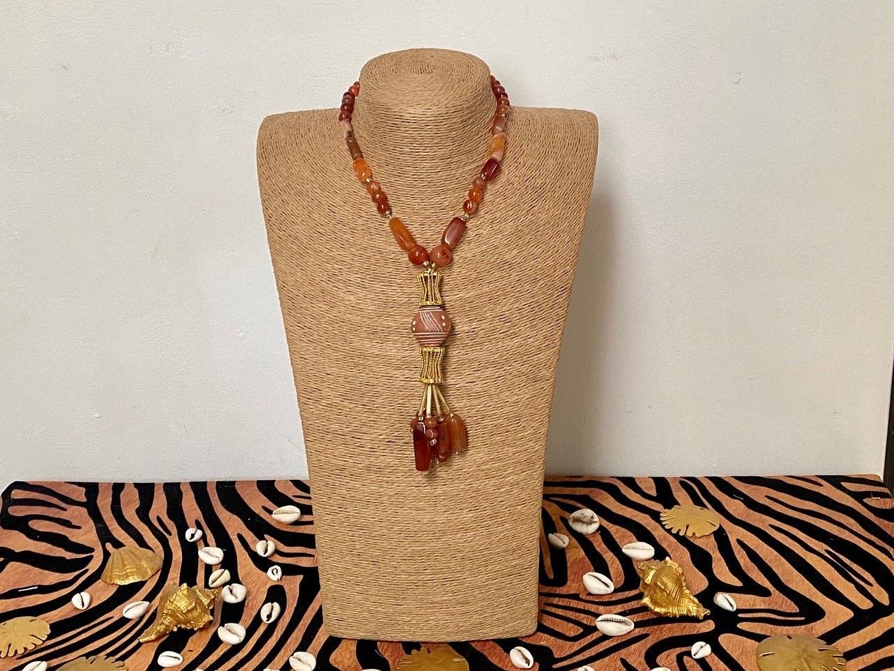 sautoir perle d'Afrique