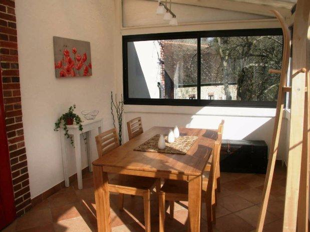 self-cattering cottage-veranda-moulin de lonceux-eure et loir-chartres