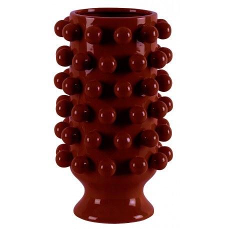 Céramique de vase Décoration Grappa Rouge D24.5H40cm