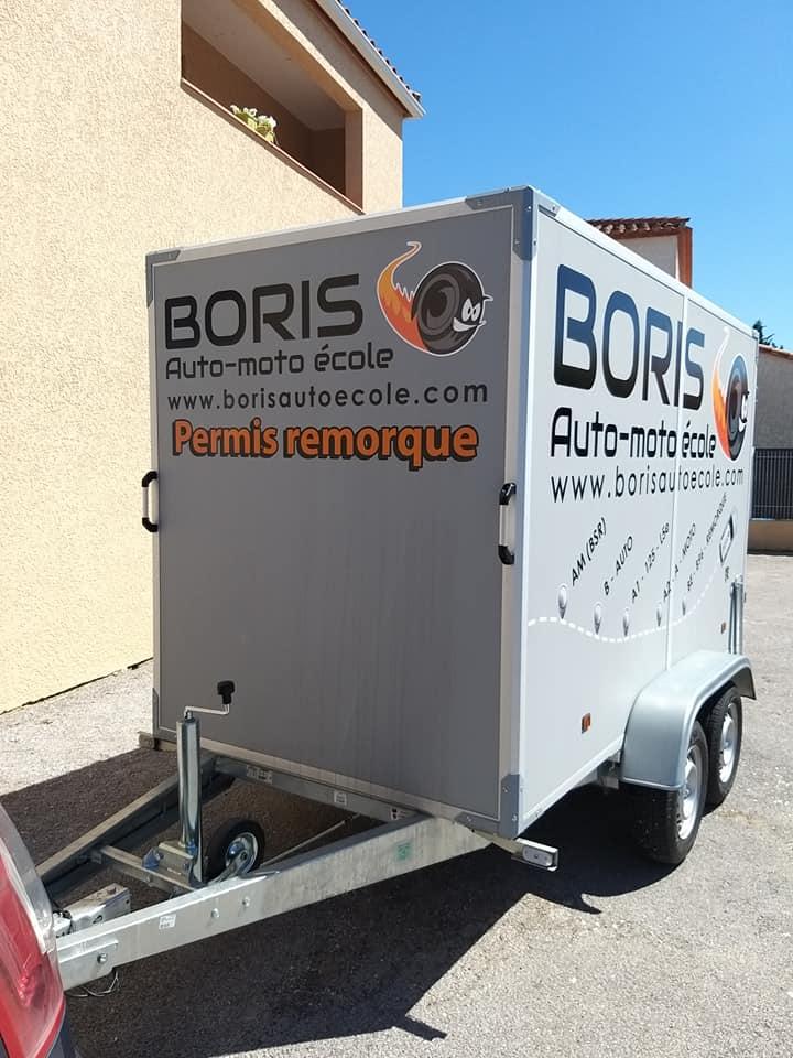 permis remorque Boris Auto-Moto école à Argelès-sur-Mer et Elne permis auto, moto ou cyclo