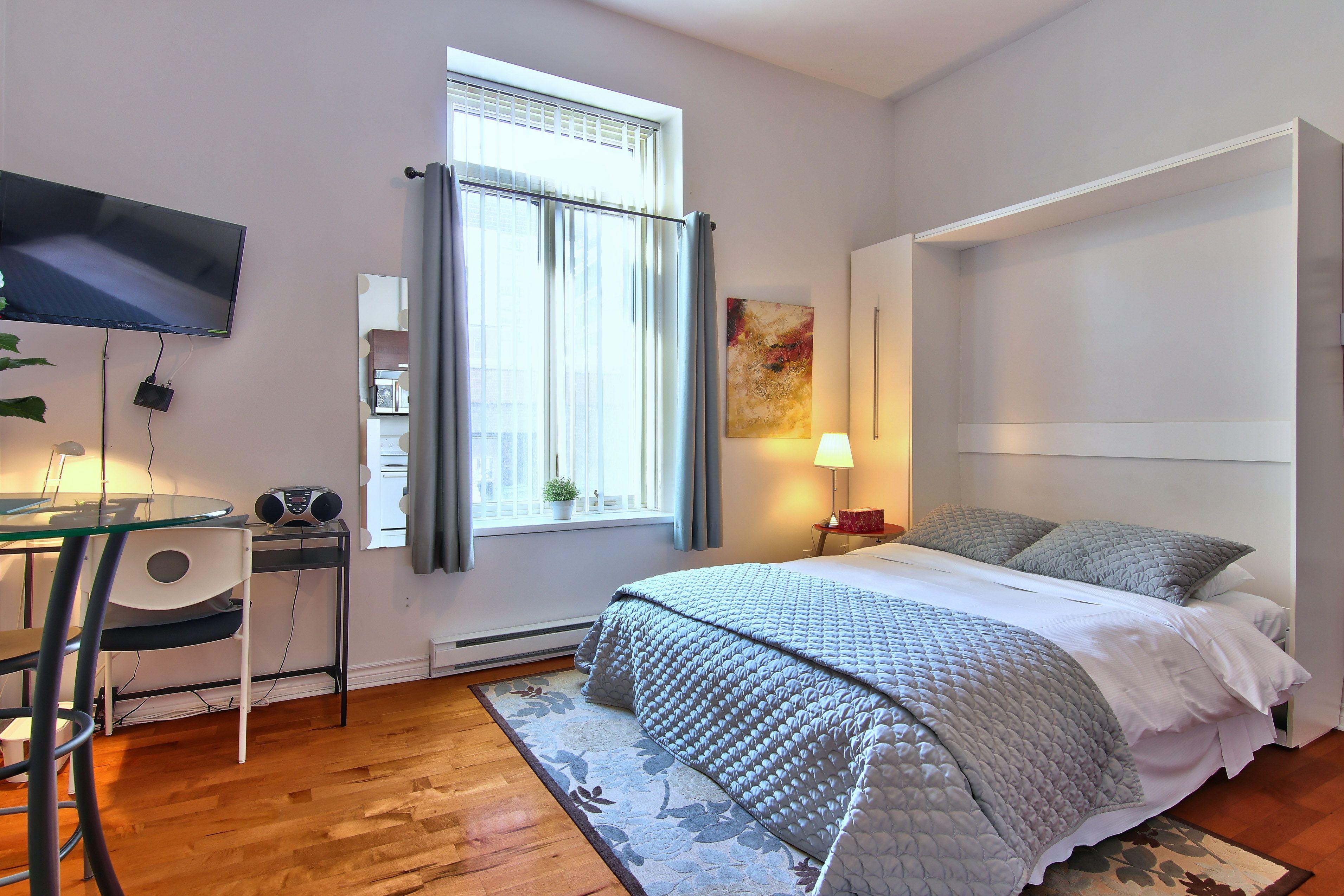 hotel-proche-palais-des-congres-montreal-studio-chambre-lit-queen