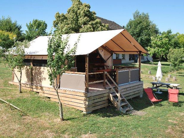 Camping Le Clapas tente lodge Livingstone