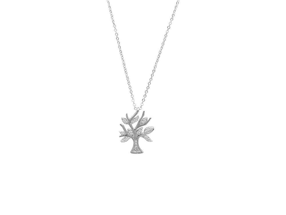 manjo collier-microserti-arbre-avec-oxydes-de-zirconium-sur-argent-rhodie-3-317366