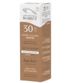 Crème solaire visage Teintée SPF30 dorée - 50 ml