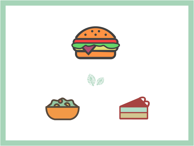 Formule entrée + burger + dessert