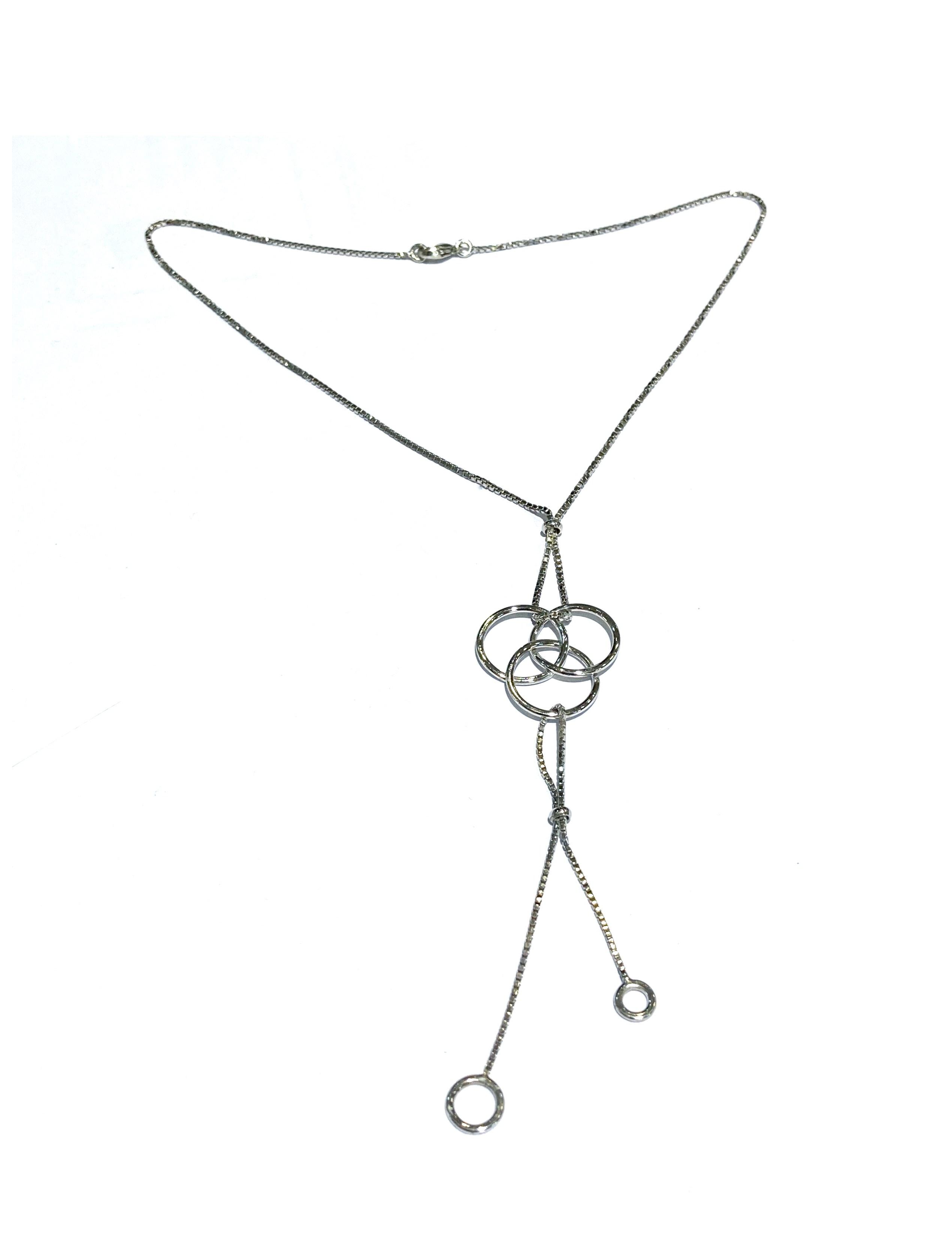 manjo collier cravate argent 925