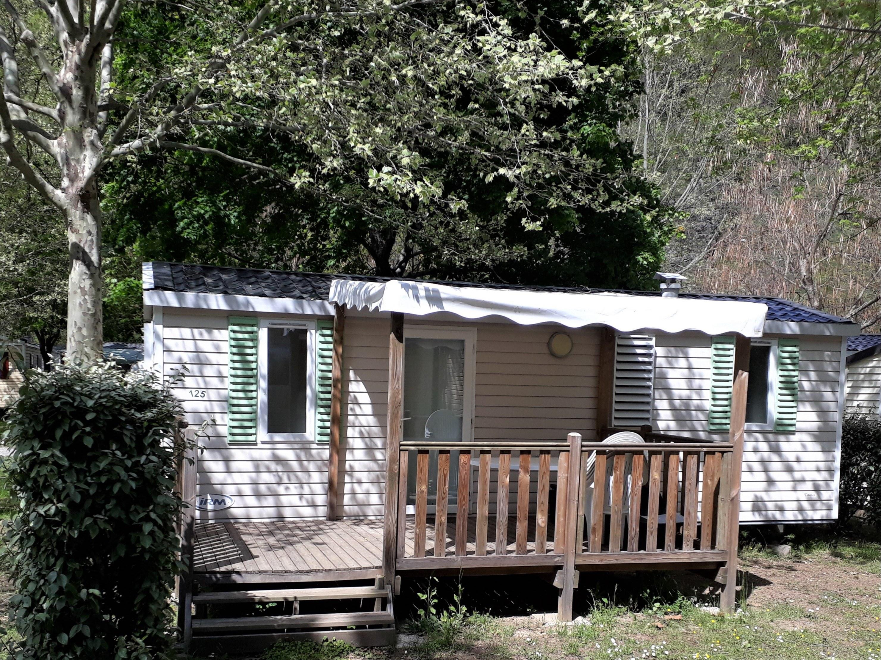 MOBILE HOME CONFORT CAMPING DE RETOURTOUR ARDECHE RIVIERE PISCINE
