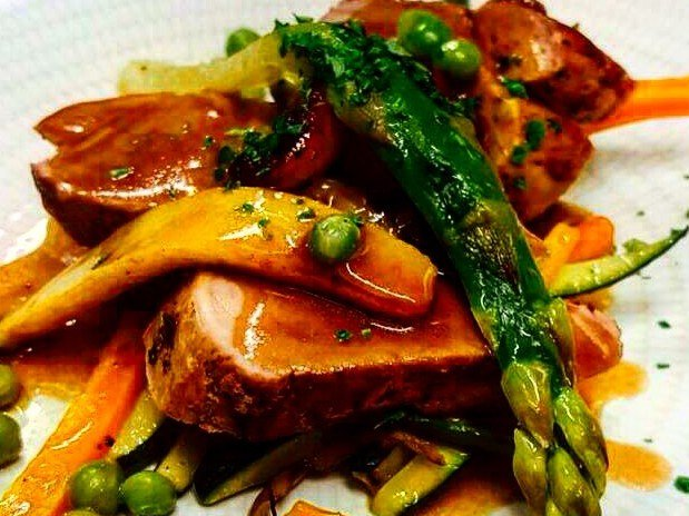 cuisine savoureuse, filet mignon sauce aigre douce