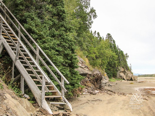 Escalier de la plage