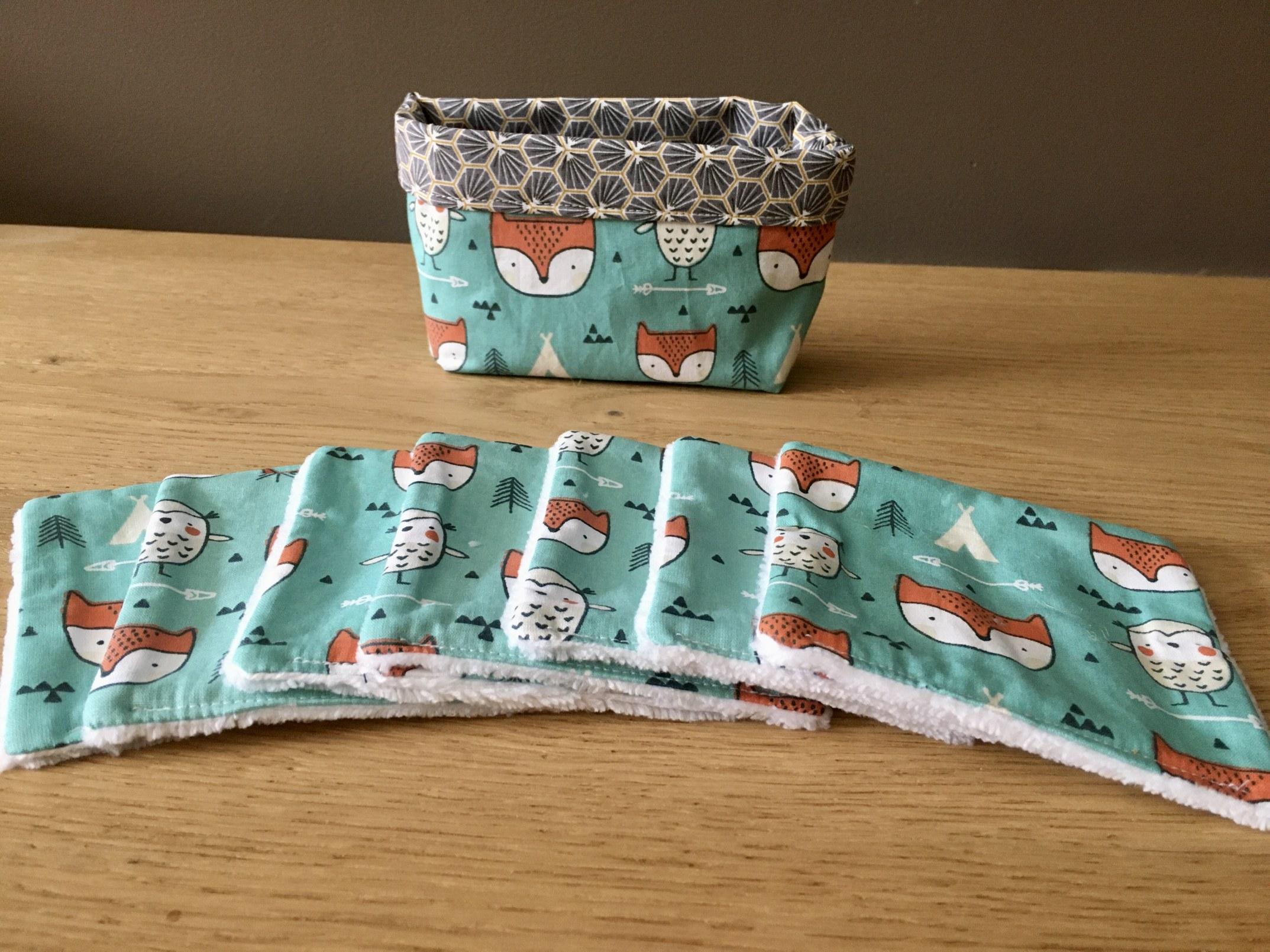 Lingettes tissu renard