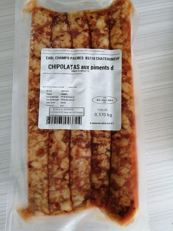 chipos espelette_1 Au Cochon Pailleux Exploitation Agricole à Châteuneuf