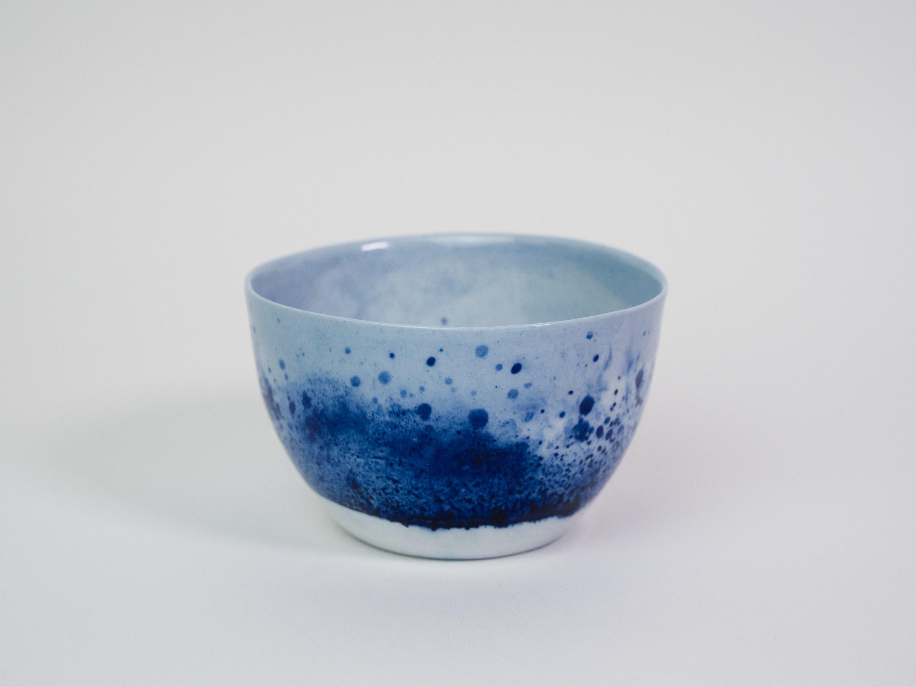 Collection Ligne Bleue -bol - porcelaine bleu brillant