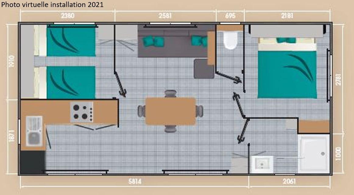 loggia premium plan 02 - camping familial meze plage piscine