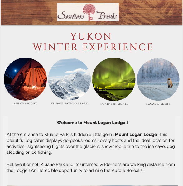 Yukon winter experience