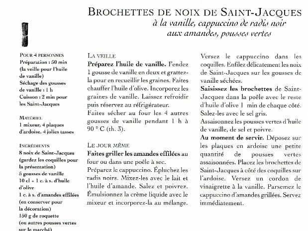 Noix de St Jacques à la vanille
