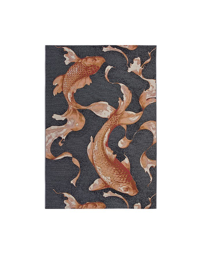 tapis poissons rouges