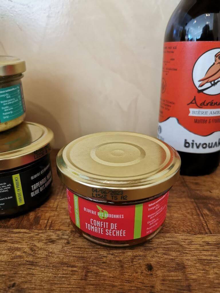 Confit de tomates séchées, produit artisanale, location Malaucène, Ventoux