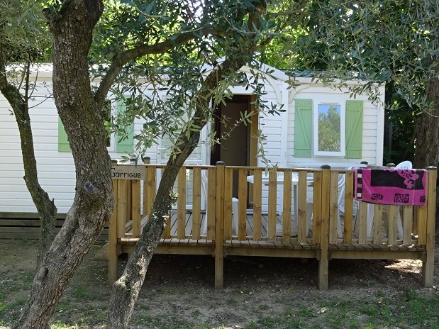 CAMPING L OLIVIER - JUNAS - SOMMIERES - NIMES -  LOCATION MOBIL HOME
