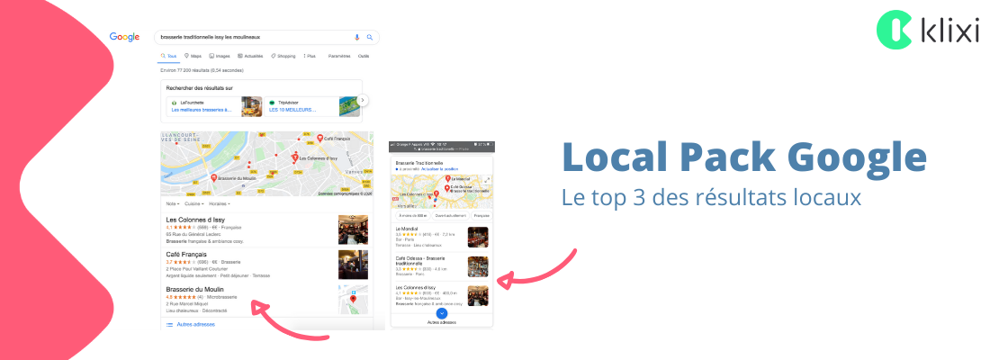 référencement local Google - Local Pack